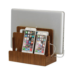 Multi-Device Charging Station Walnut