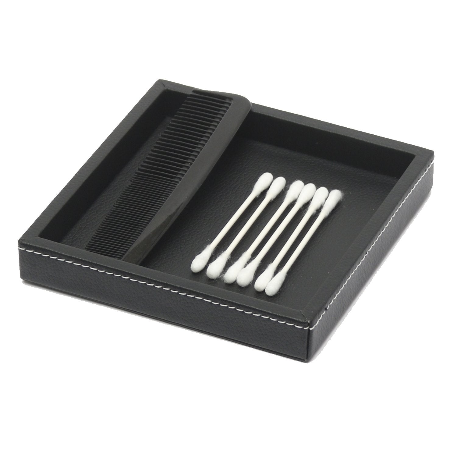 Mini Tray - Black Leatherette