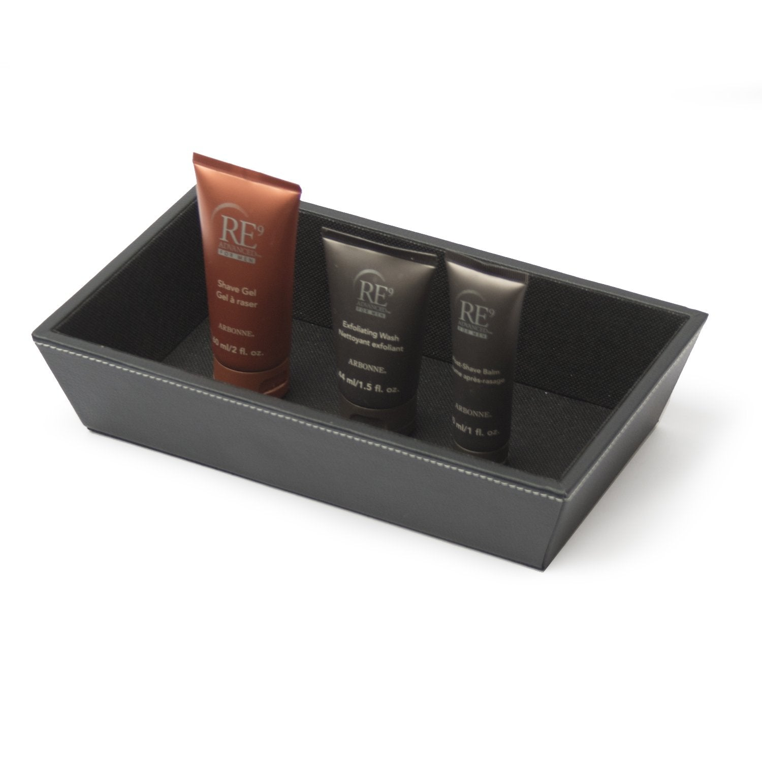 Canted Tray - Black Leatherette