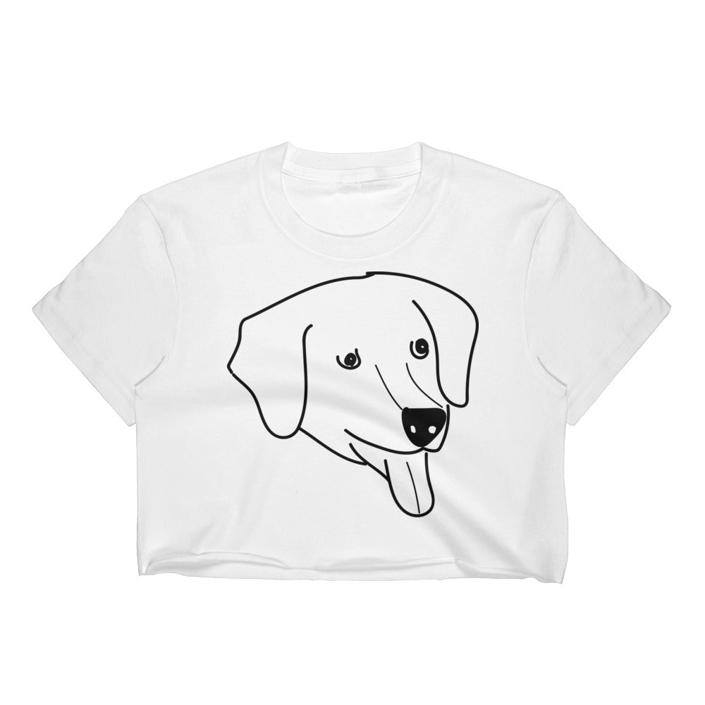 "Buddy, The Dog Actor from ""Air Bud"" Crop Top"