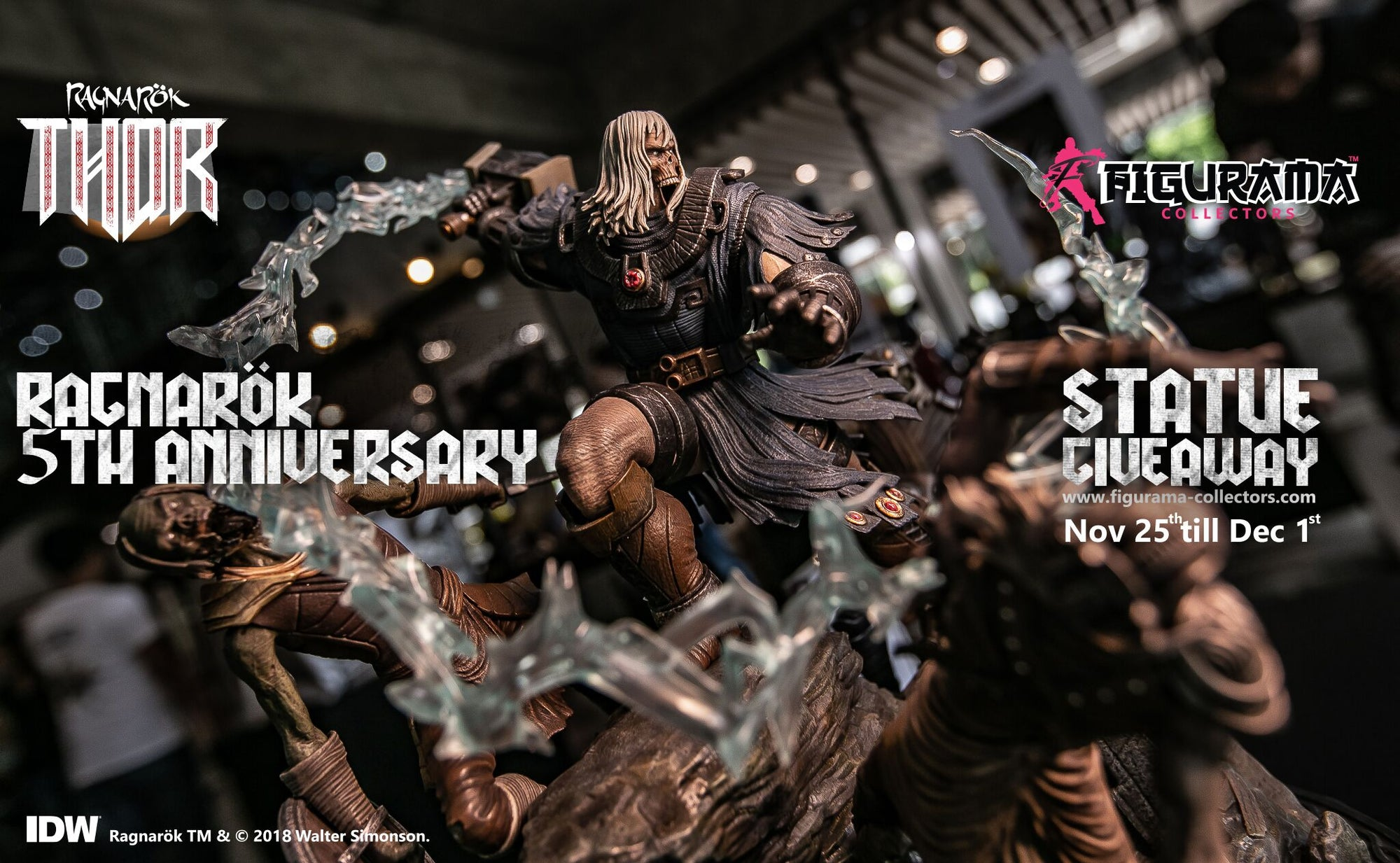 FIGURAMA COLLECTORS CELEBRATES 5 YEARS OF THOR: RAGNAROK WITH A STATUE GIVEAWAY!