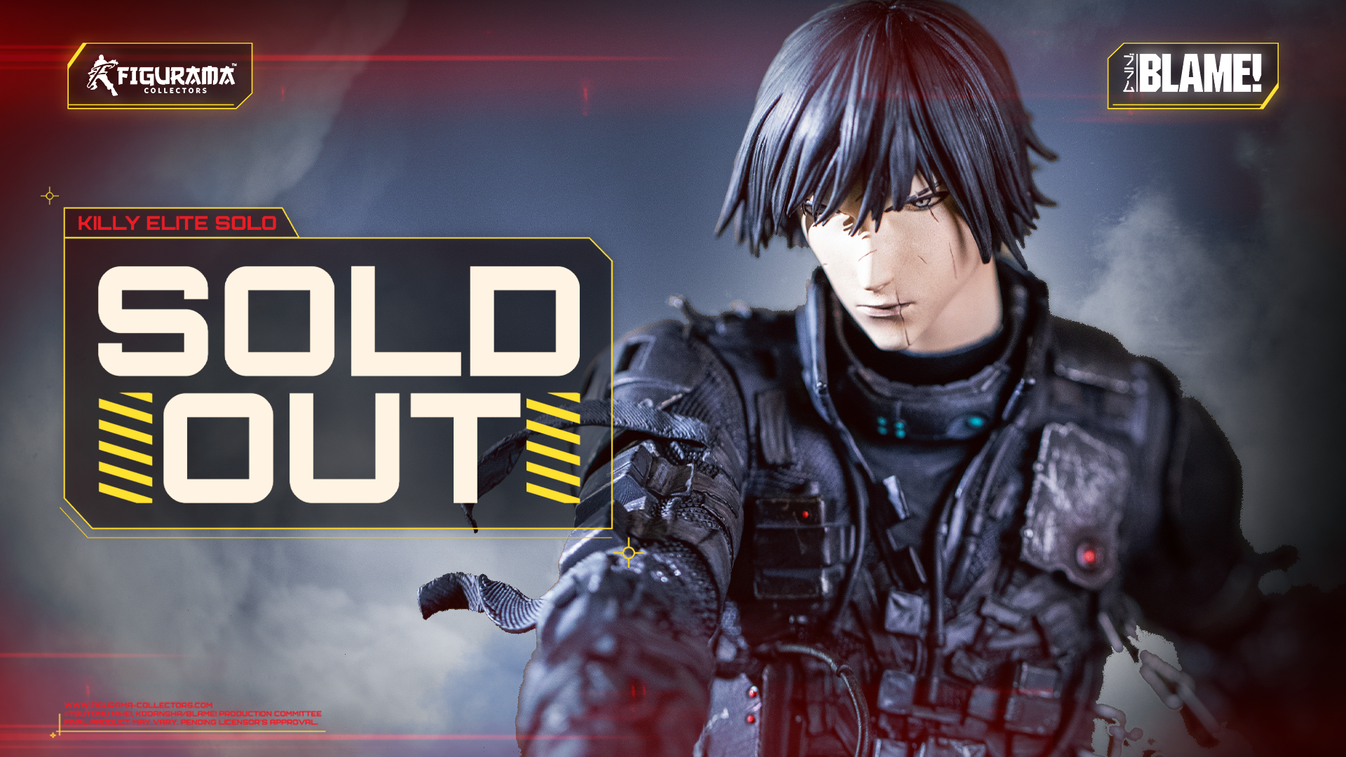 💥 SOLD OUT! BLAME! KILLY ELITE SOLO STATUE
