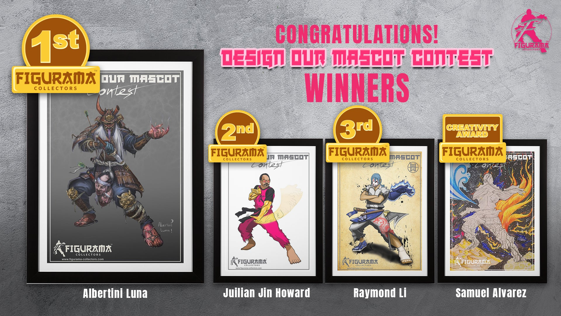 Design our Mascot Contest Winners!