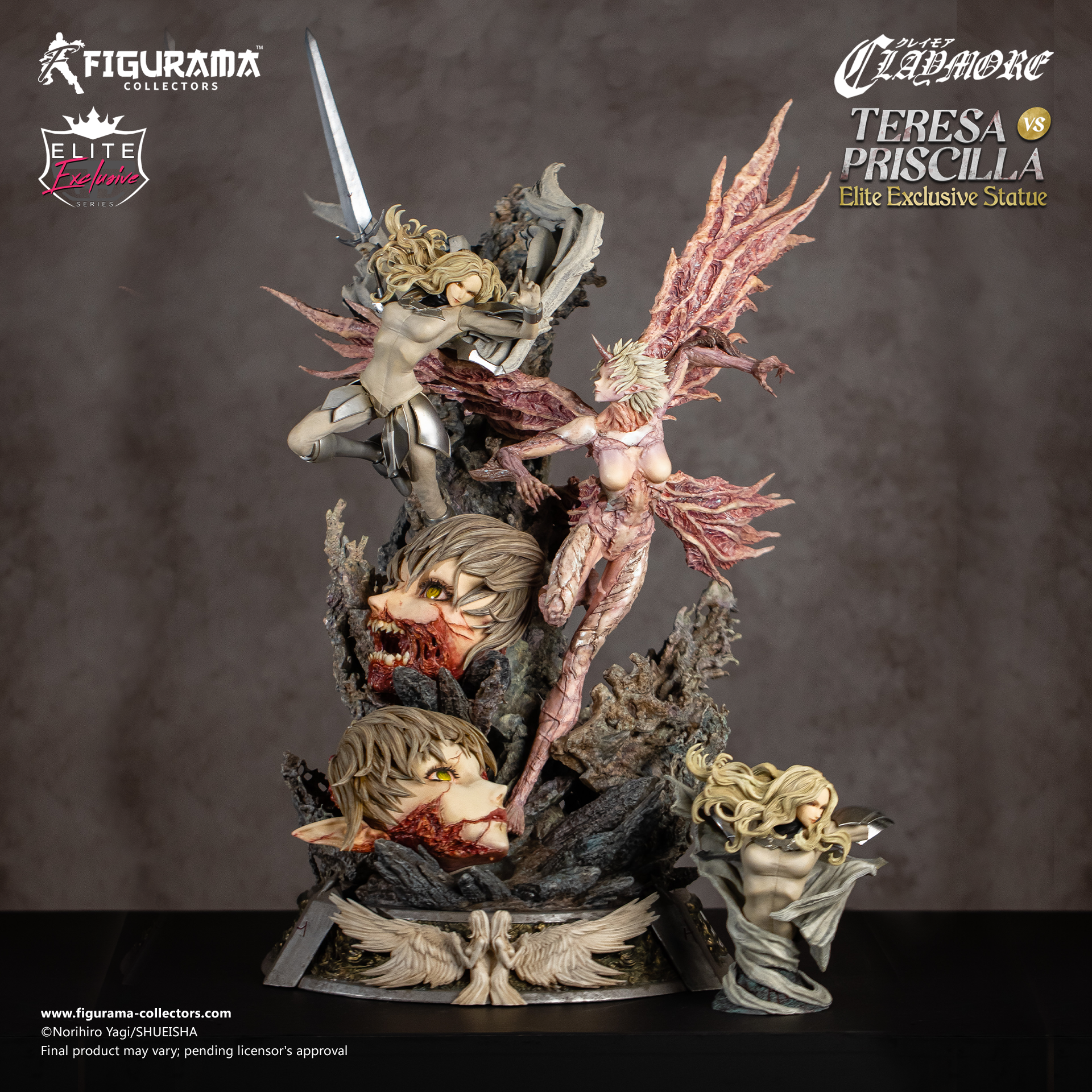 Claymore: Teresa vs. Priscilla Elite Exclusive Statue