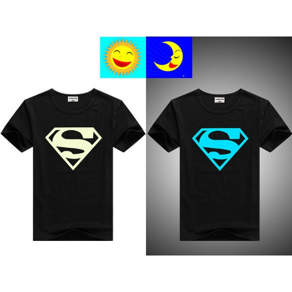 Glow in The Dark Printed Round Neck T-shirt For Kids