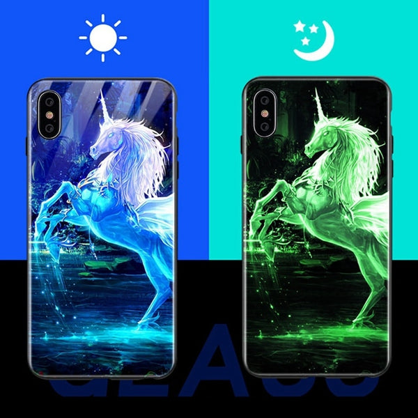 Luminous Glass Case For iPhone