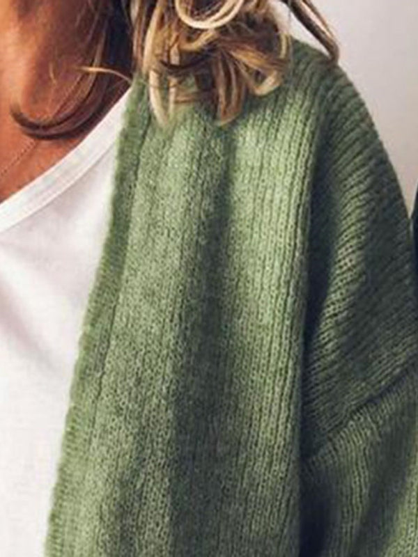 Wrapped Mid-Length Loose Sweater