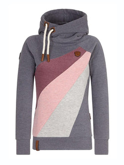 Color Block Patchwork Pullover Cool Hoodie