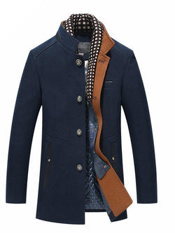 Single Breasted Stand Collar Men's Casual Coats