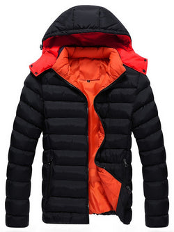 Men's Thicken Hooded Down Jacket