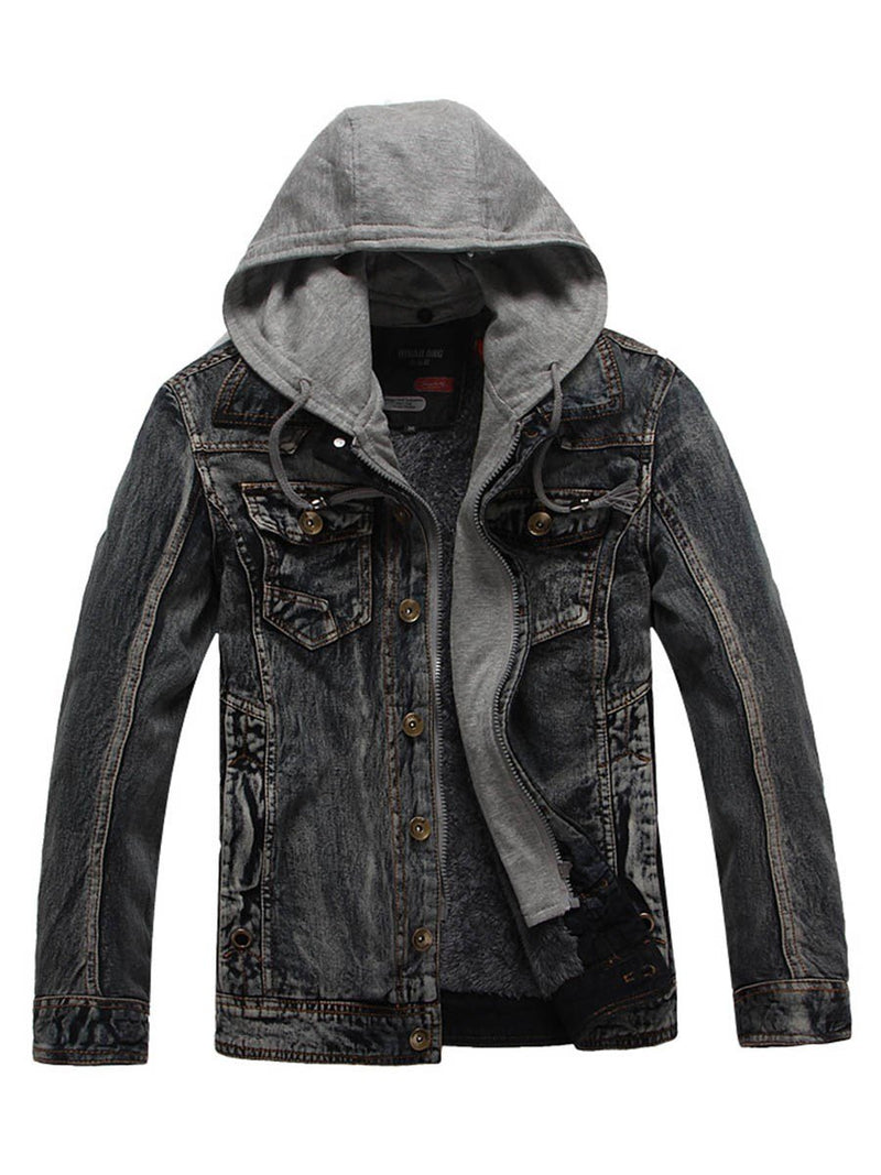 Men's Thicken Hooded Jacket