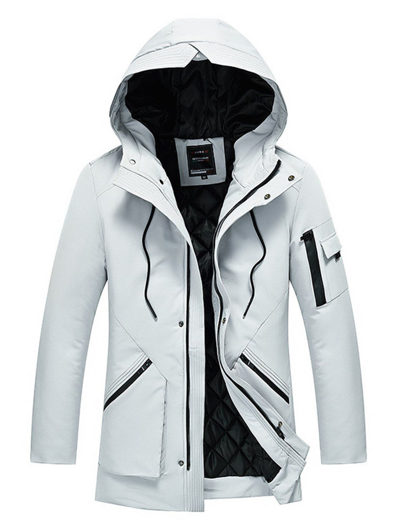 Men's Slim Long Sleeve Zipper Down Jacket