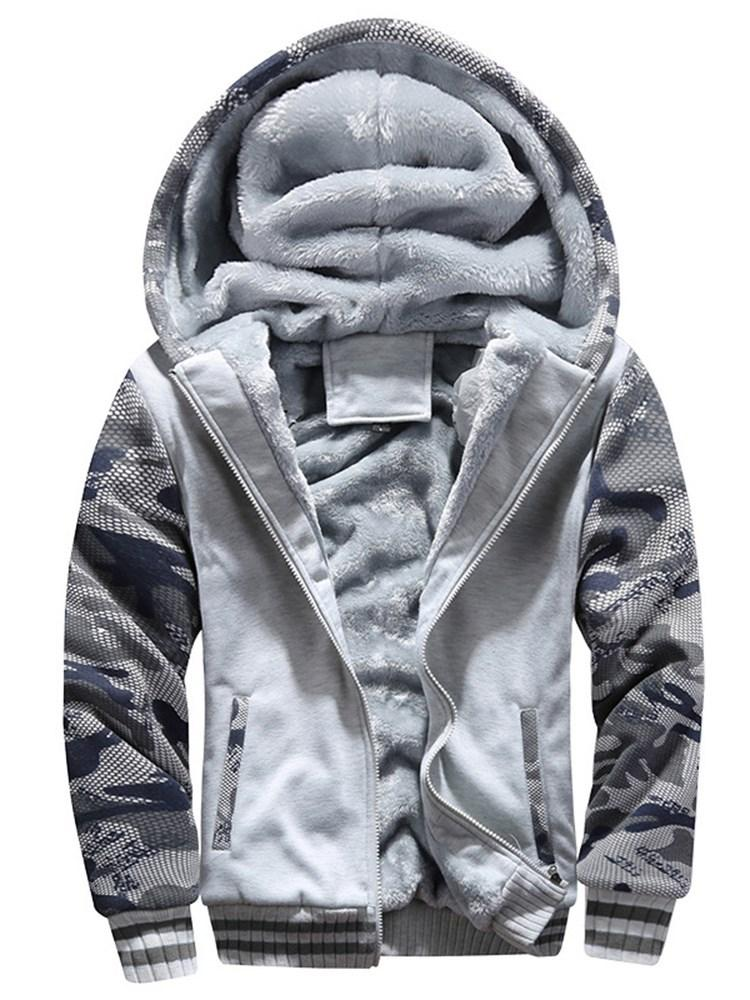 Camouflage Fleece Mens Casual Sports Hoodies
