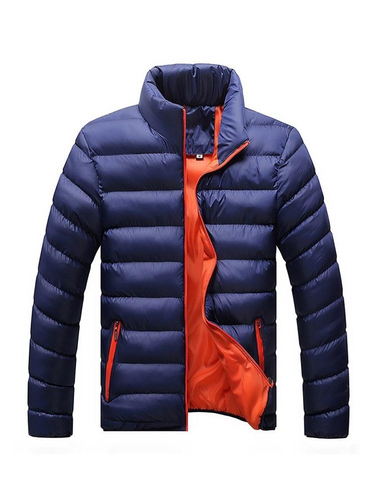 Men's Best Seller Stand Collar Pure Color Thicken Down Jacket