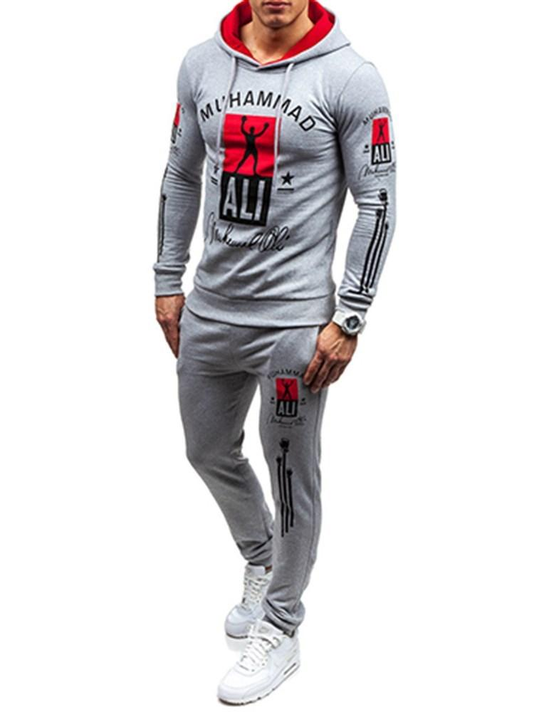 Hoodie European Print Fall Outfit MEN'S SUITS