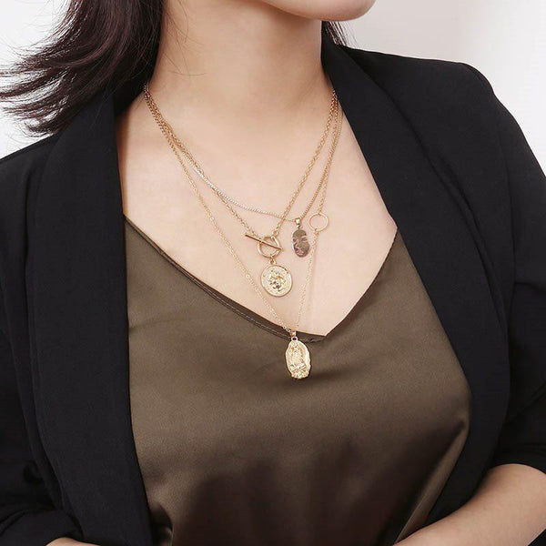 Figure Pendant Necklace E-Plating Female Necklaces