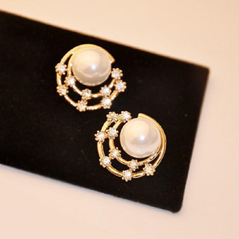 Alloy Korean E-Plating Party Earrings