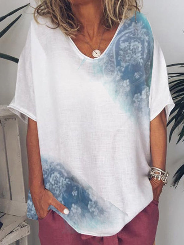 Half Sleeve Mid-Length Casual Loose T-Shirt