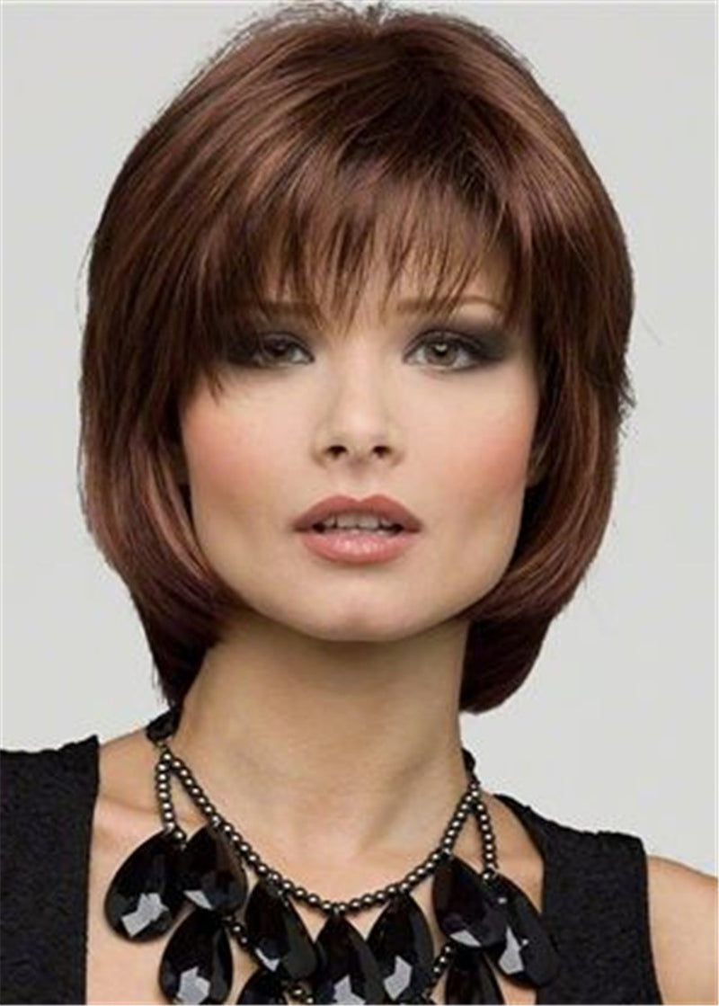Capless Women Synthetic Hair Natural Straight 120% Wigs