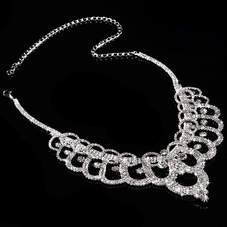Korean Necklace Plant Wedding Jewelry Sets