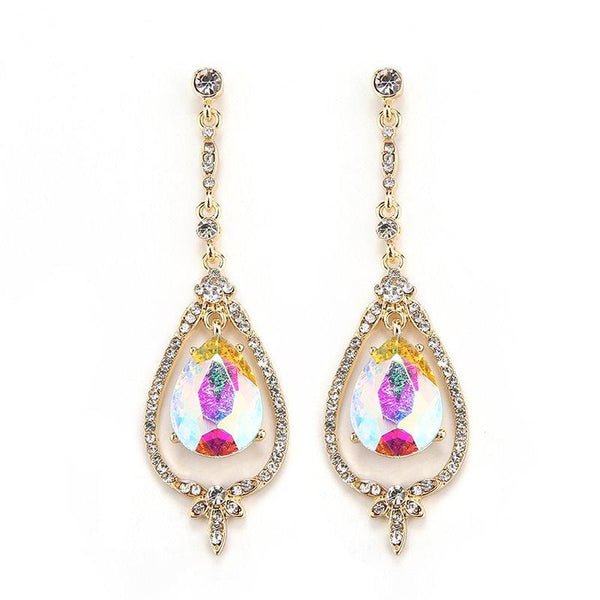 Alloy European Water Drop Engagement Earrings