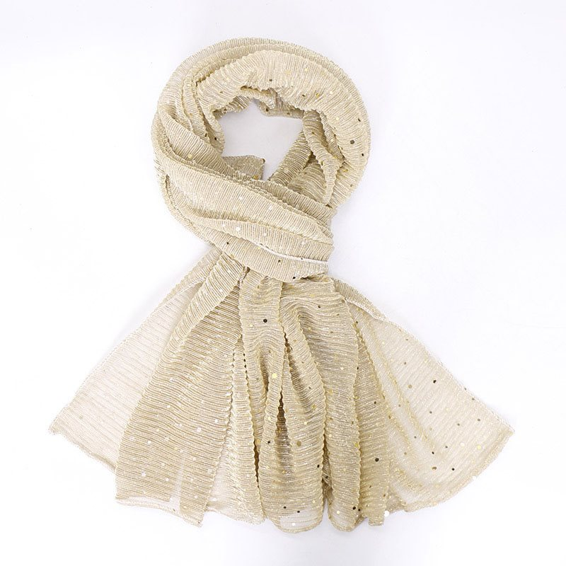 Vintage Sequins Scarf Plain Scarves