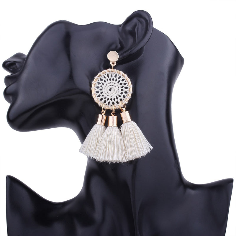 Geometric Alloy Tassel Party Earrings