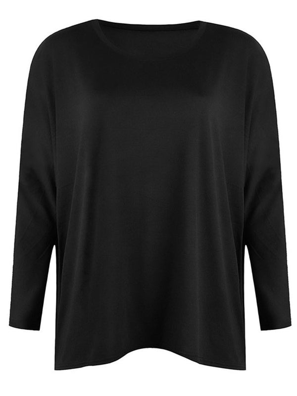 Round Neck Long Sleeve Mid-Length Western Spring T-Shirt