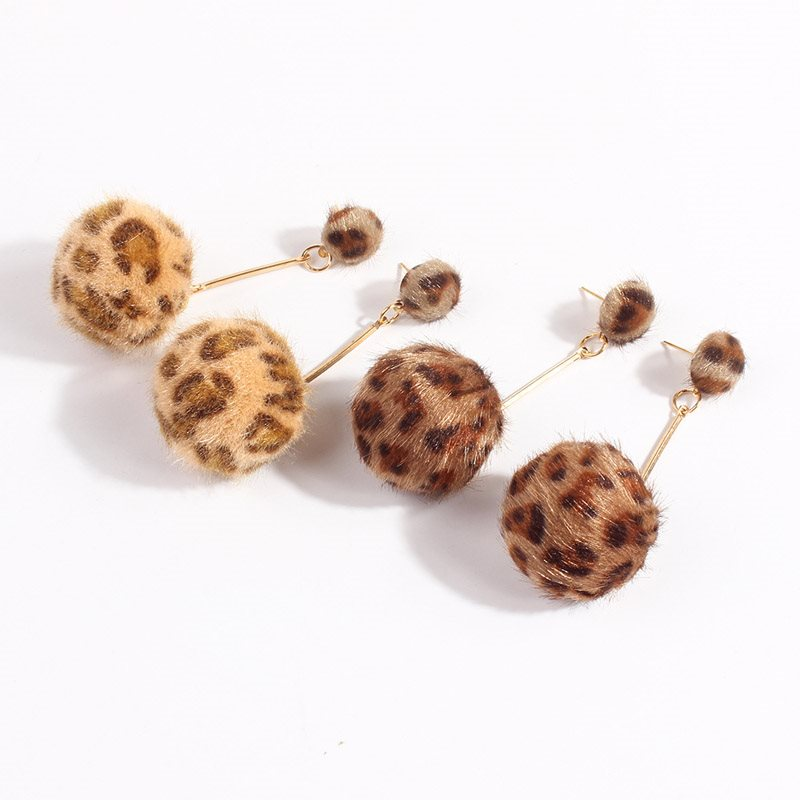 Leopard Korean Alloy Wedding Earrings