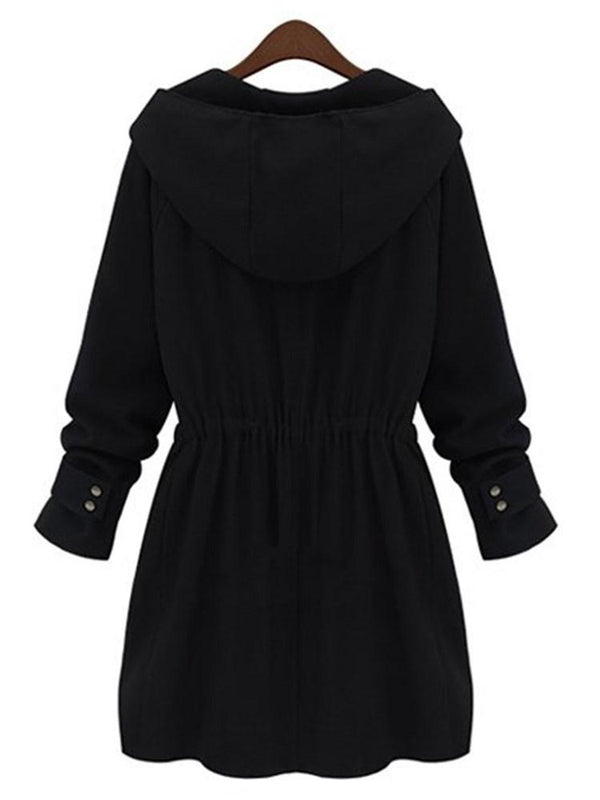 Front Zipper Cardigan Trench Coat