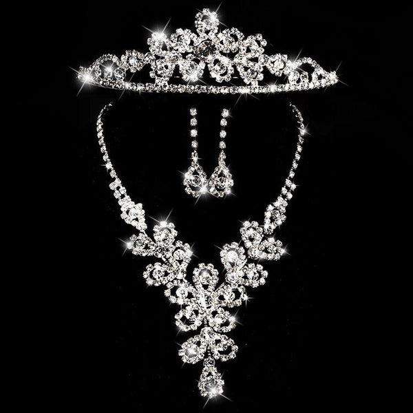 Tiara Korean Plant Engagement Jewelry Sets