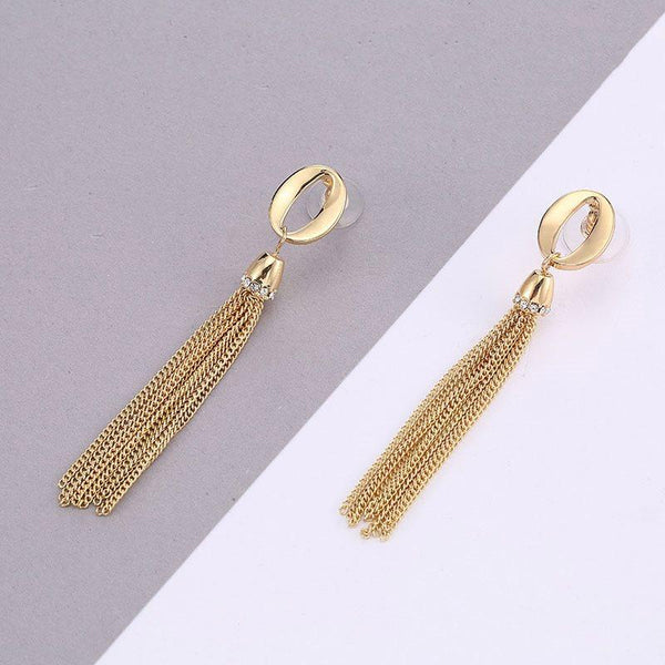 Geometric E-Plating Alloy Prom Earrings