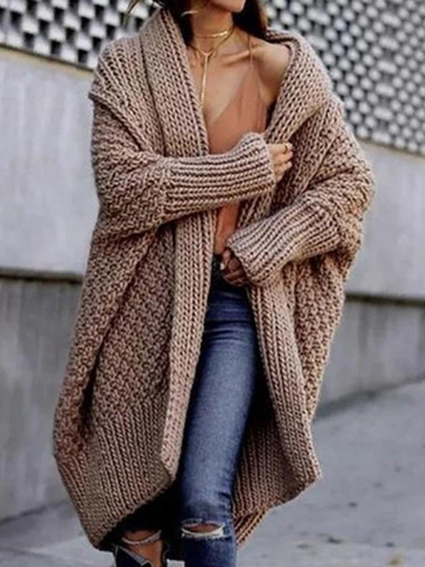 Regular Wrapped Thick Loose Long Sweater