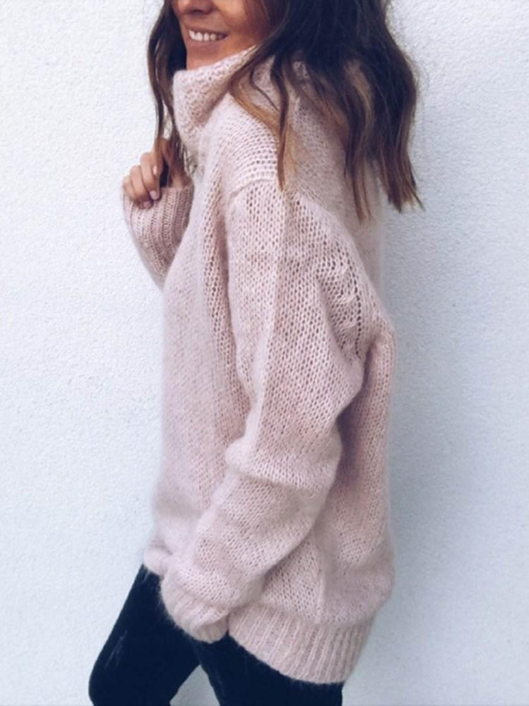 Regular Turtleneck Long Sleeve Sweater