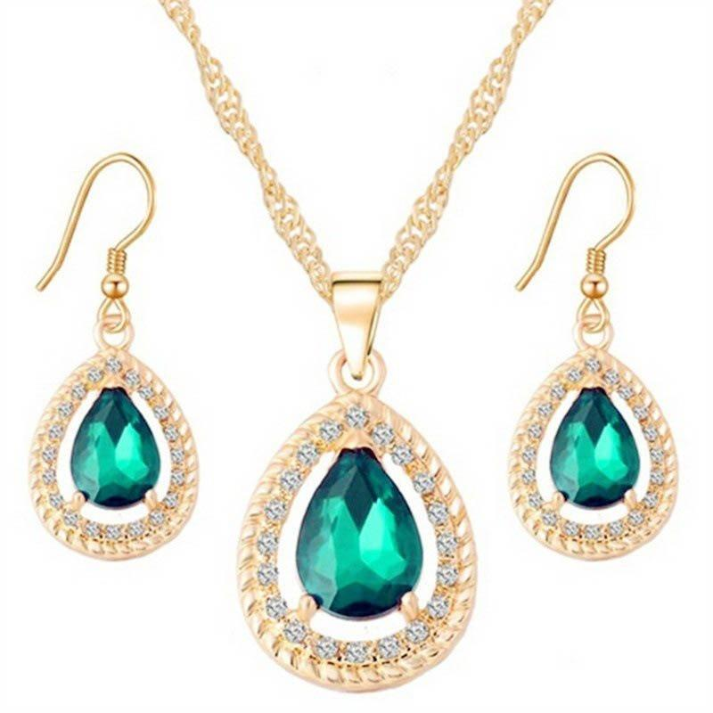 European Earrings Diamante Gift Jewelry Sets