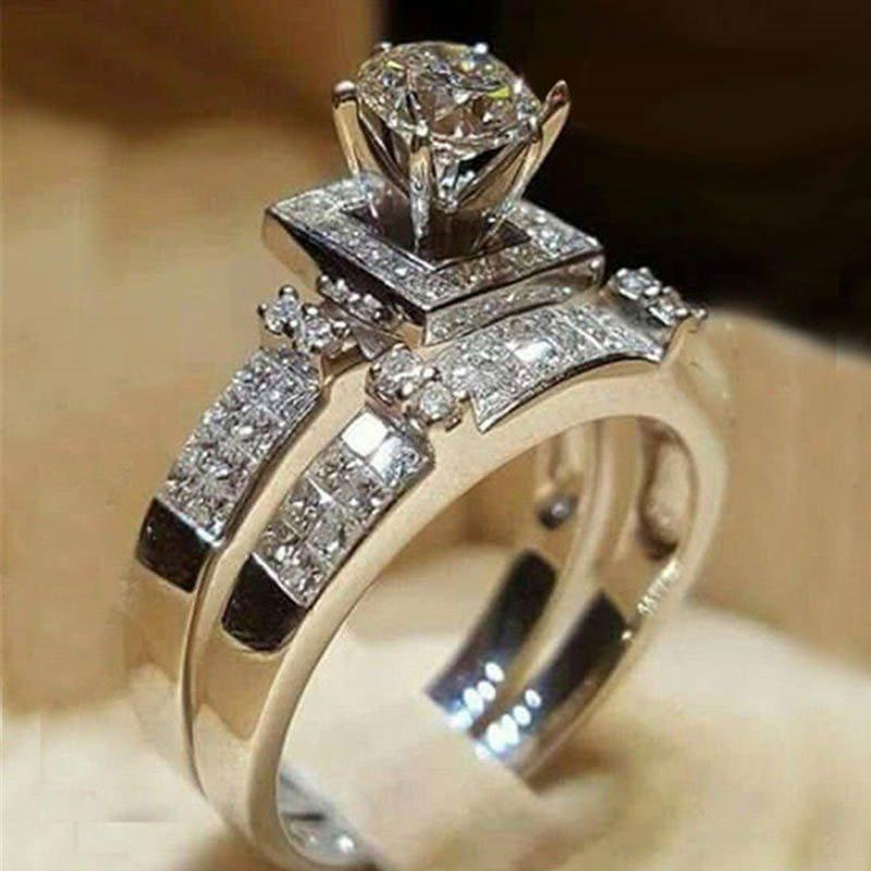 European Diamante Alloy Gift Rings