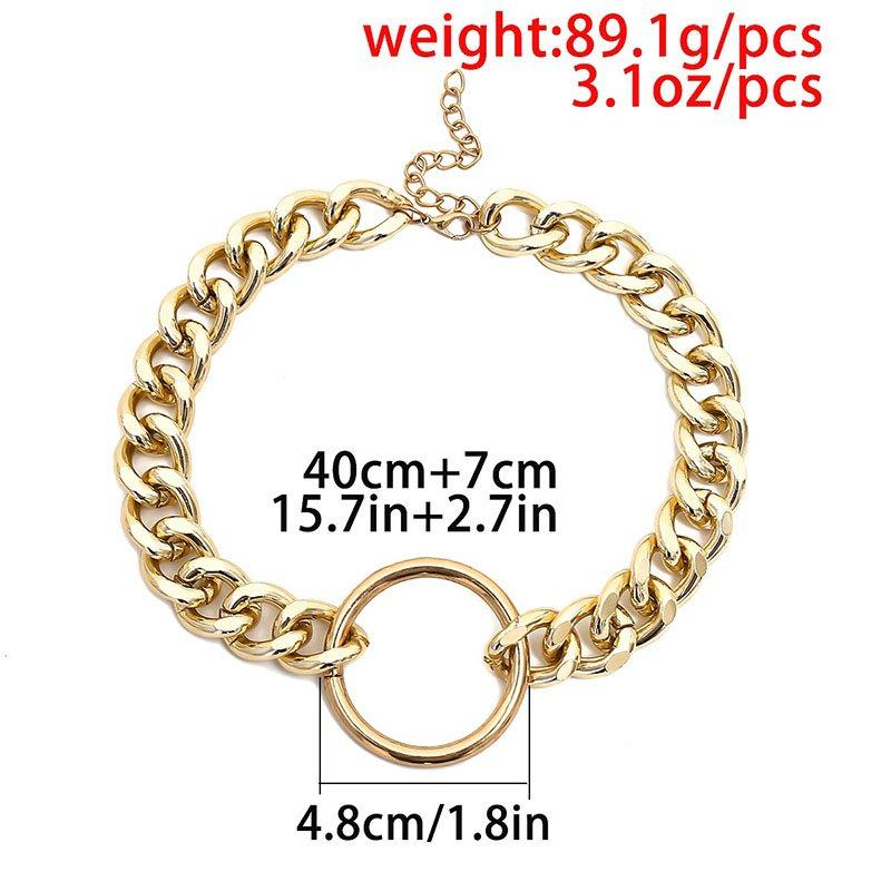 Horsewhip Plain E-Plating Female Necklaces