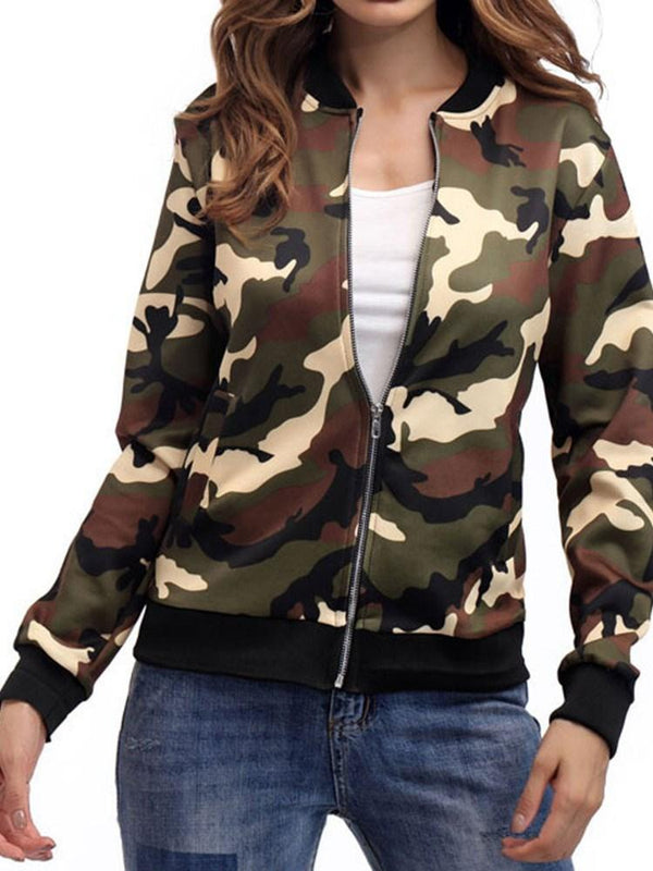 Best Seller  Camouflage Zipper Jacket