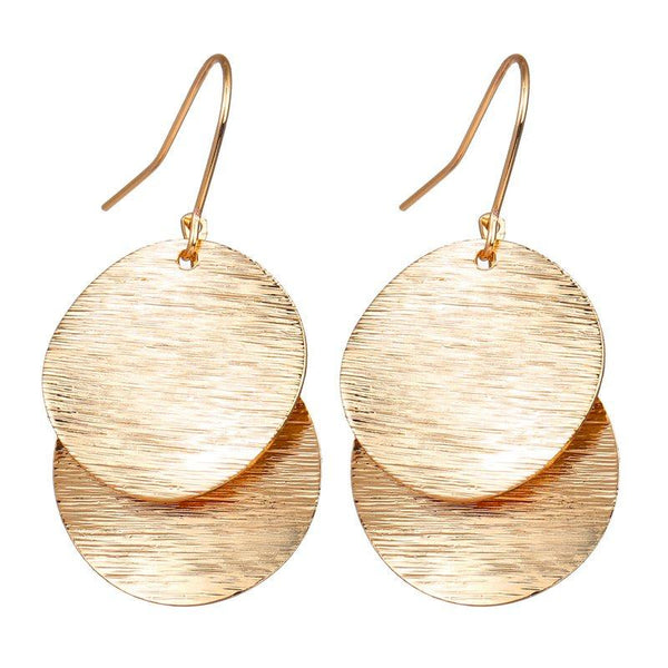 Geometric E-Plating Alloy Gift Earrings