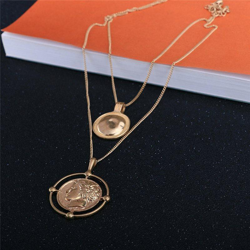 E-Plating Pendant Necklace Figure Female Necklaces