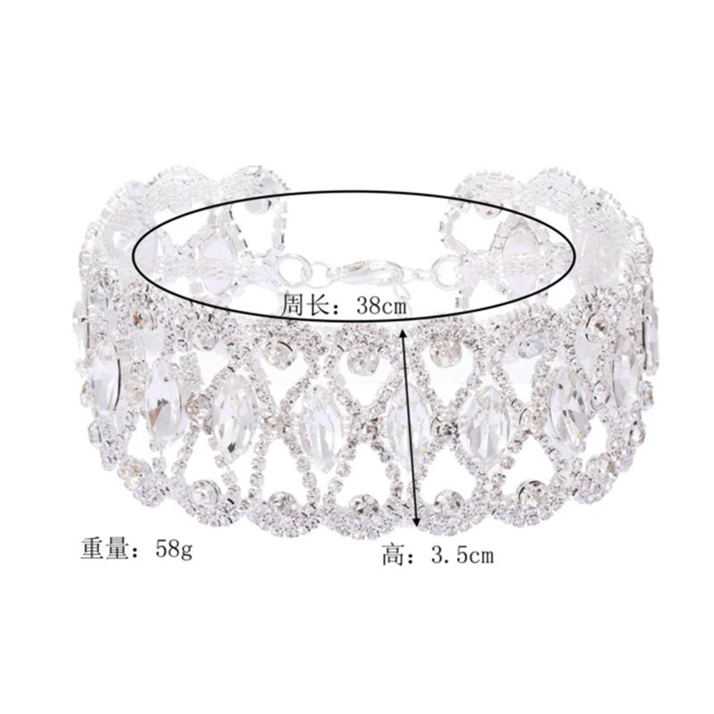 Floral Choker Necklace Diamante Female Necklaces