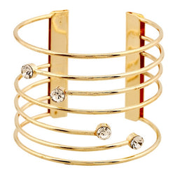 European Diamante Geometric Female Bracelets