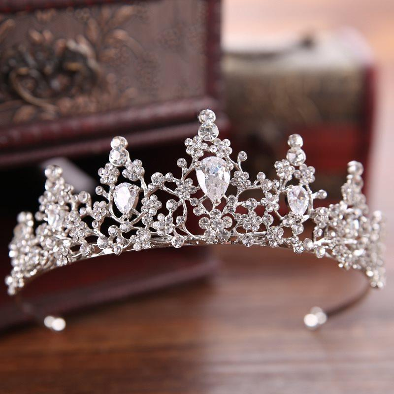 Crown Crystal Inlaid  Wedding Tiara