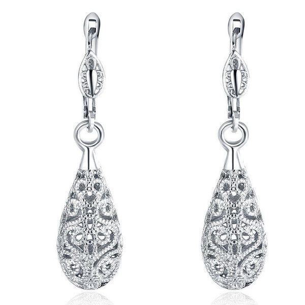 Water Drop European Alloy Birthday Earrings