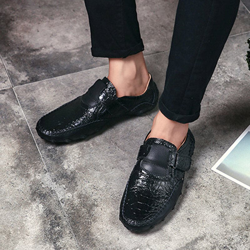 Slip-On Low-Cut Upper Plain PU Round Toe Thin Shoes