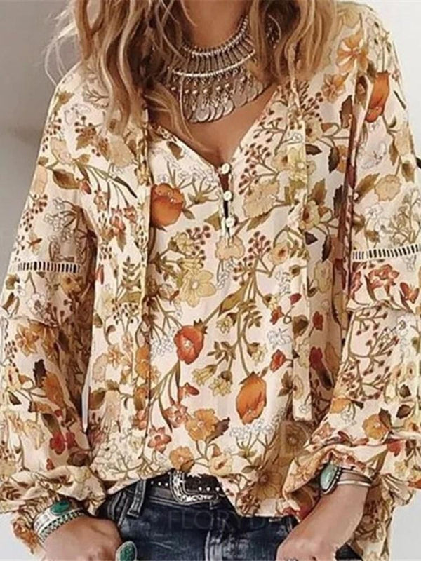 Print Standard Long Sleeve Blouse