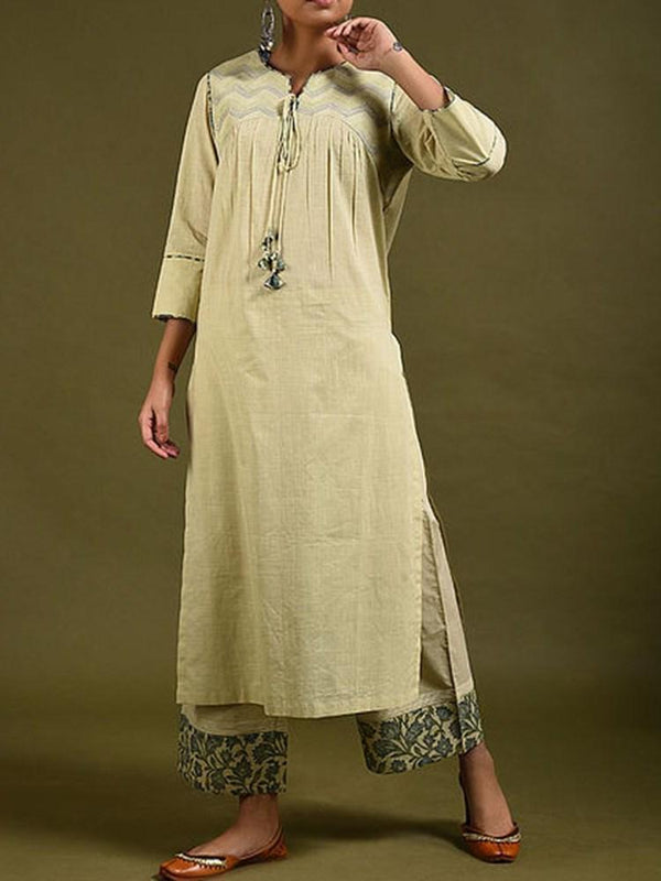 Ethnic Dress Three-Quarter Sleeve Print Mid-Calf Western Regular Dress Diwali