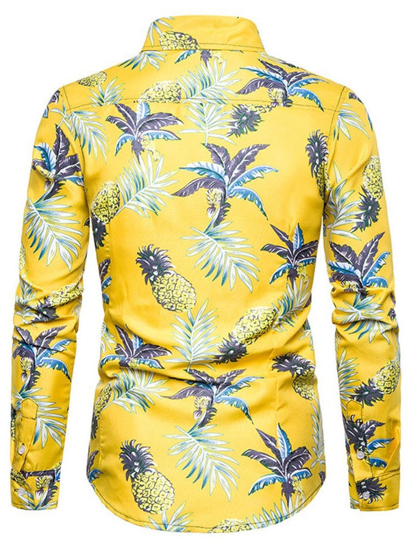 Floral Print Casual Slim Single-Breasted Shirt
