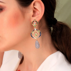 Alloy European Diamante Wedding Earrings