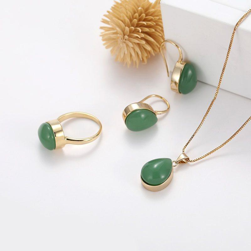 Water Drop Vintage E-Plating Wedding Jewelry Sets